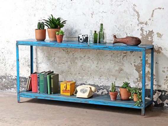 Blue Vintage Console Table Blue