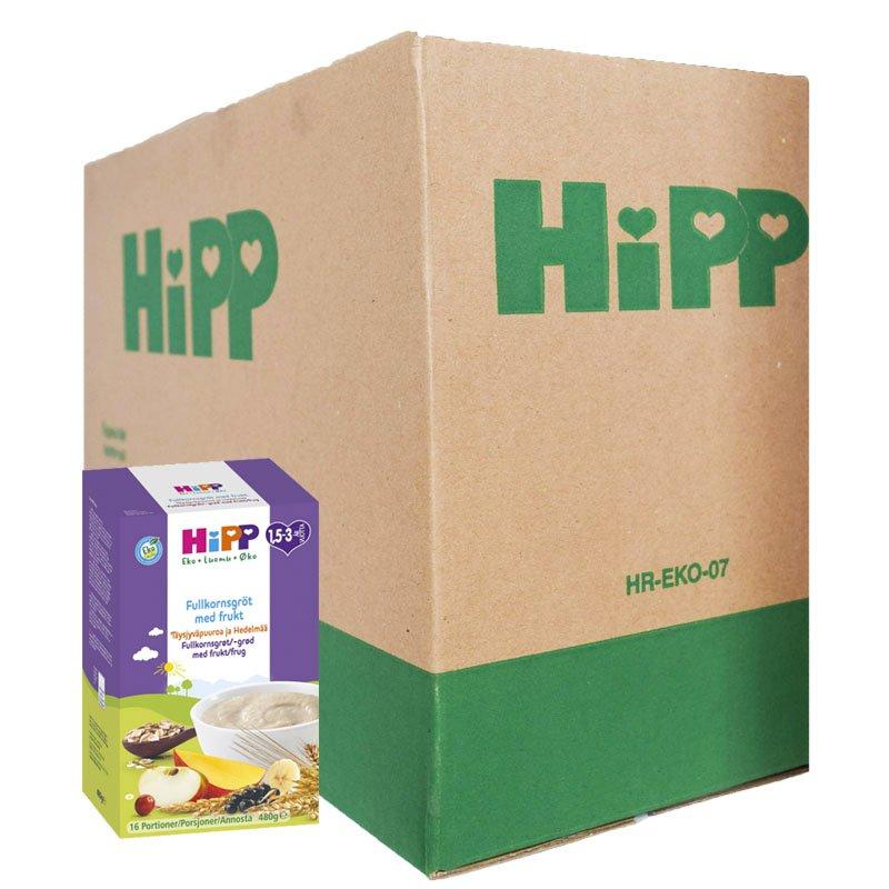 Laatikollinen Lastenruokaa: Täysjyväviljapuuro Hedelmillä 4 x 480g - 89% alennus