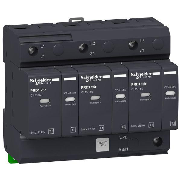 Schneider Electric 16331 Overspenningsvern med signalkontakt, PDR1 25R 3P, 25 kA