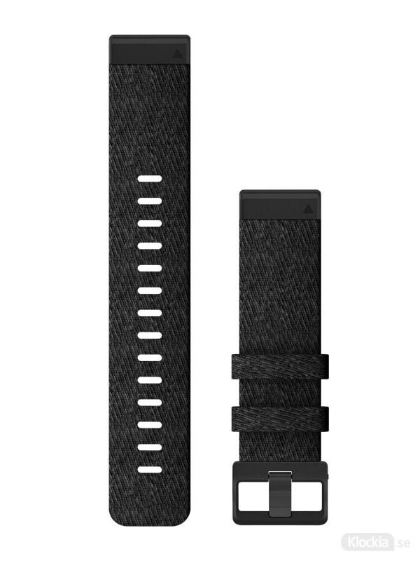 Garmin QuickFit 22mm - Klockarmband, Svart Melerad Nylon 010-12863-07