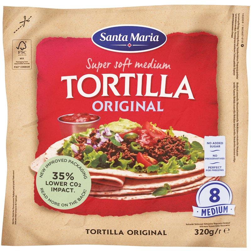 Tortillaleivät Tex Mex Tortilla Original Medium 8-pack - 25% alennus