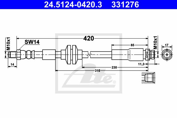 Jarruletku ATE 24.5124-0420.3