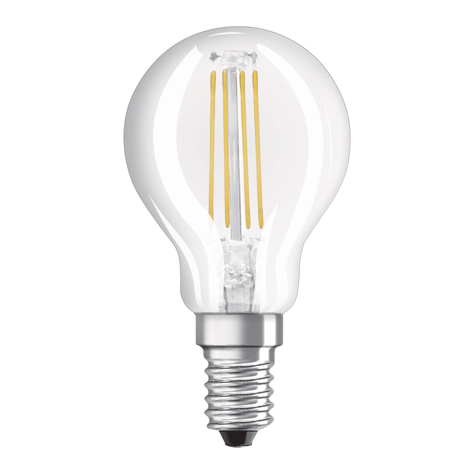 OSRAM-LED-golfpallolamppu E14 5W Superstar 840 dim