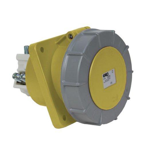 Garo UISV 2125-4 S Paneelin ulostulo IP67, 3-napainen, 125A, viisto Keltainen, 4 h