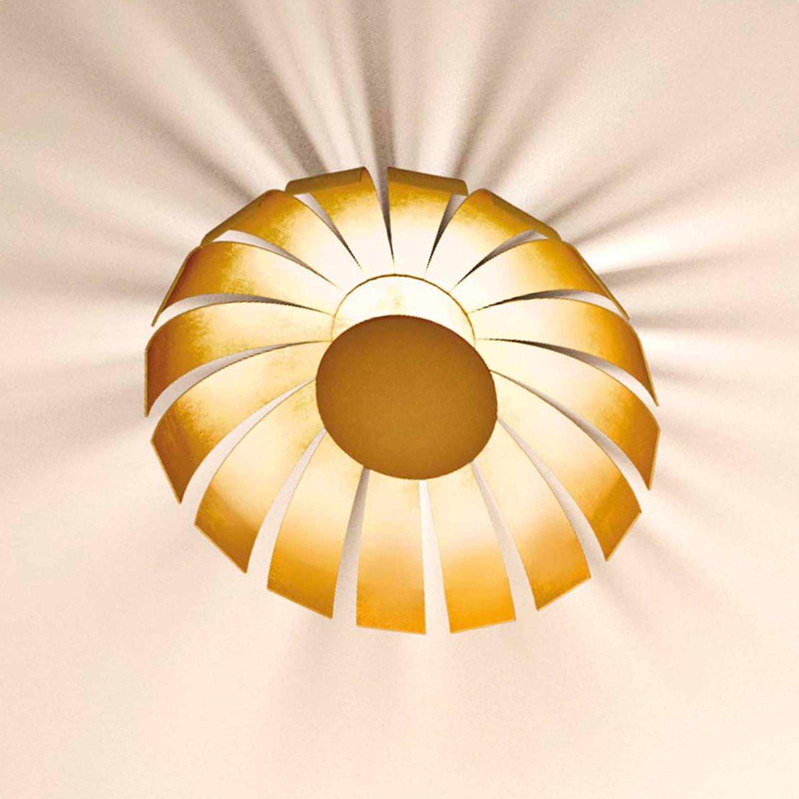 Kullattu LED-design-kattovalaisin Loto, 20 cm