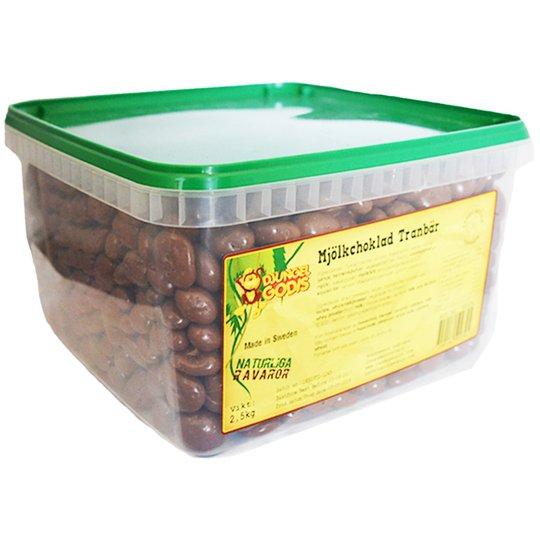 Hel Låda Godis Mjölkchoklad Tranbär 2,5kg - 66% rabatt