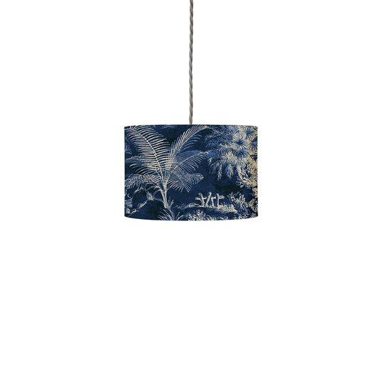 EBB & FLOW Palms indigo 12cm, kabel dreid/sølv