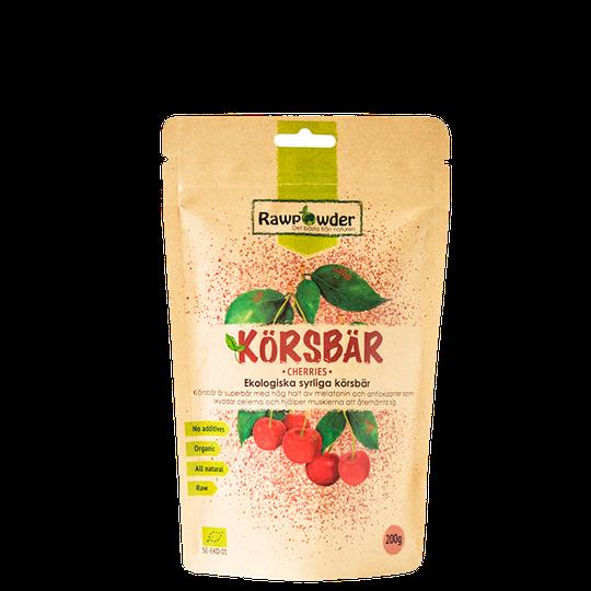 Körsbär, Ekologiska syrliga Körsbär, 200 g