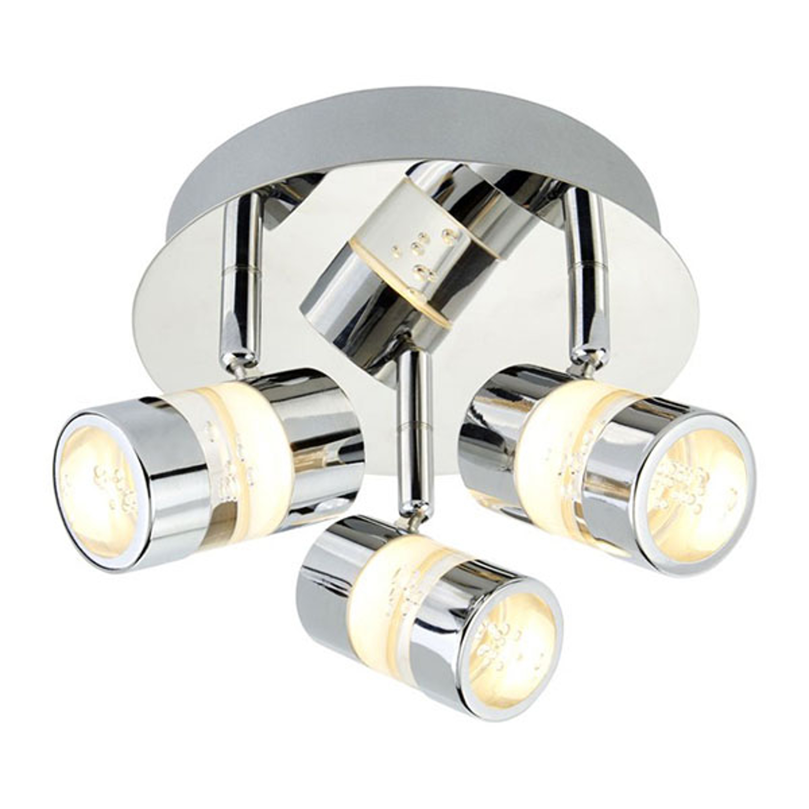 LED-spottiplafondi Bubbles, IP44, 3-lamppuinen