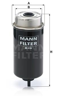 Polttoainesuodatin MANN-FILTER WK 8184