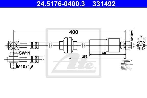 Jarruletku ATE 24.5176-0400.3