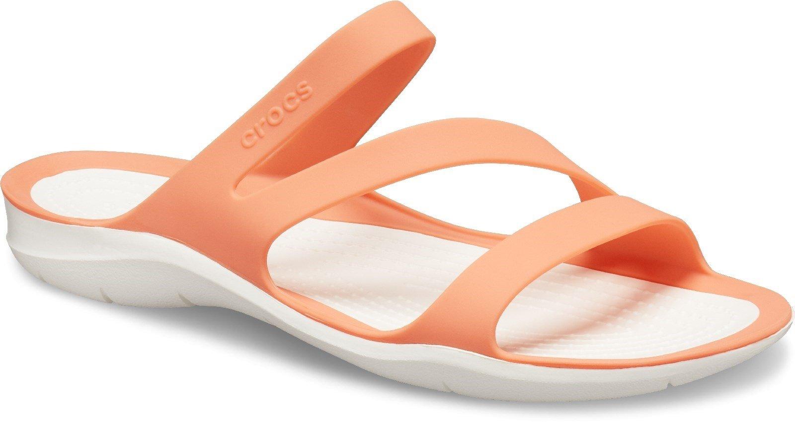 Crocs Women's Swiftwater Sandal Various Colours 25389 - Grapefruit/White 3
