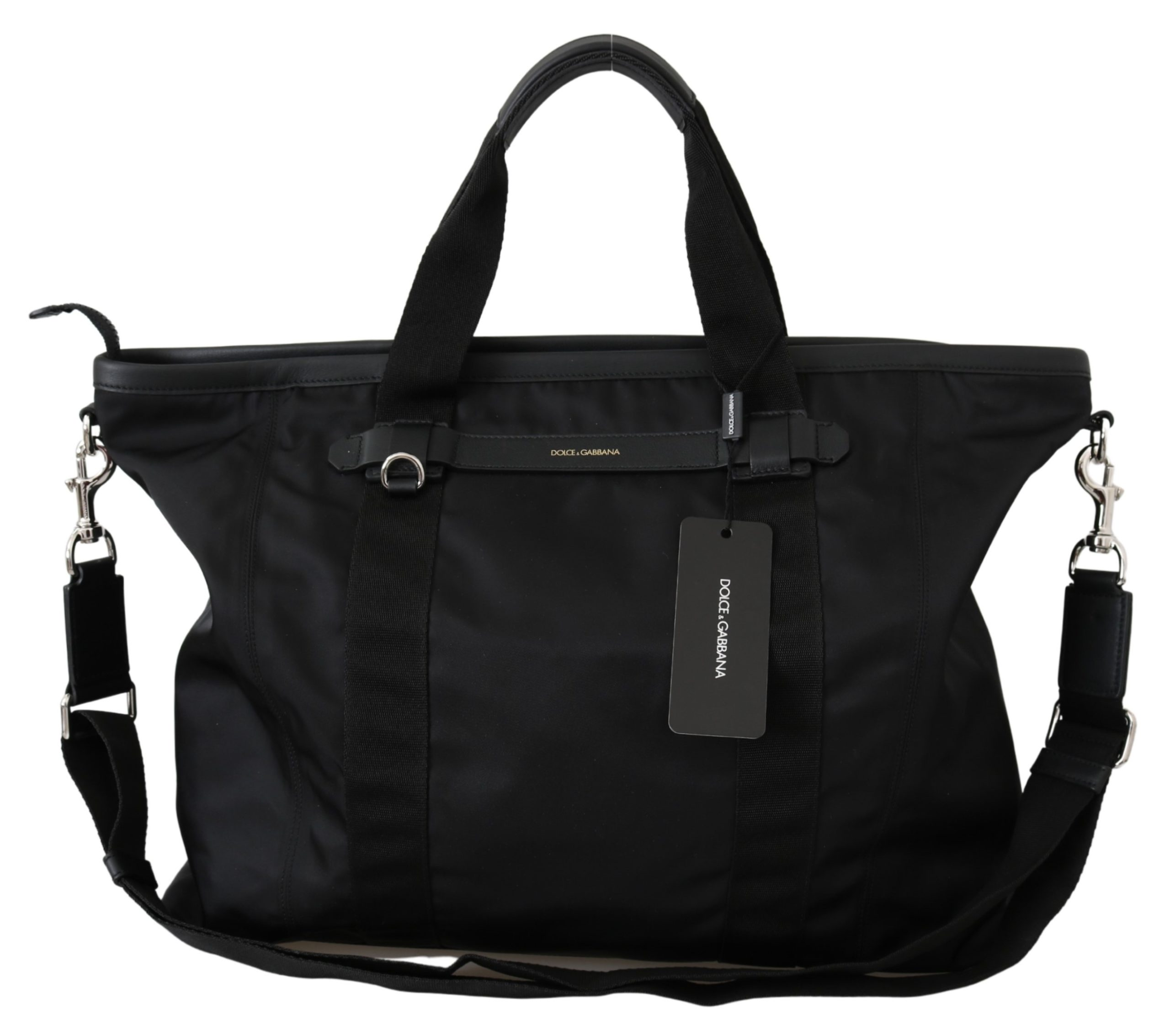 Dolce & Gabbana Men's Leather Travel Bag Black VAS9802