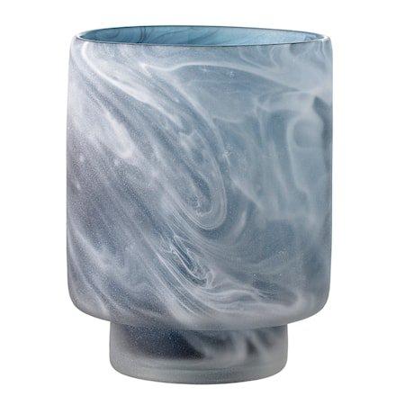Telysholder Grå Glass 10x12cm