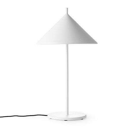 metal triangle table lamp M matt white