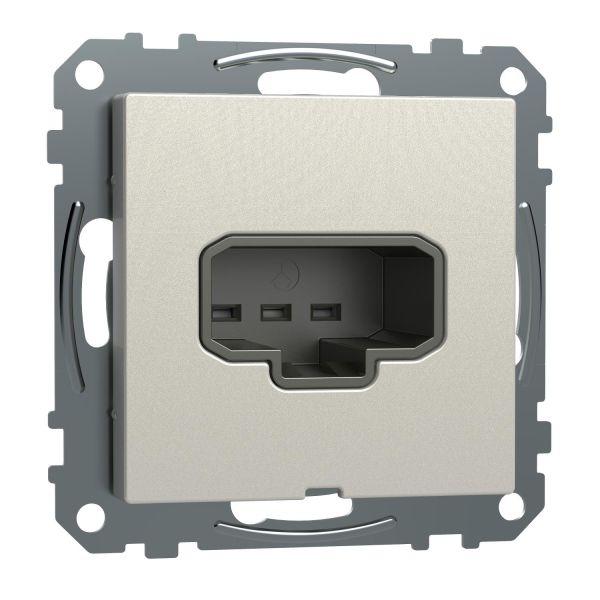 Schneider Electric Exxact WDE005012 Lampeuttak DCL, for veggmontering, innfelt Metallic