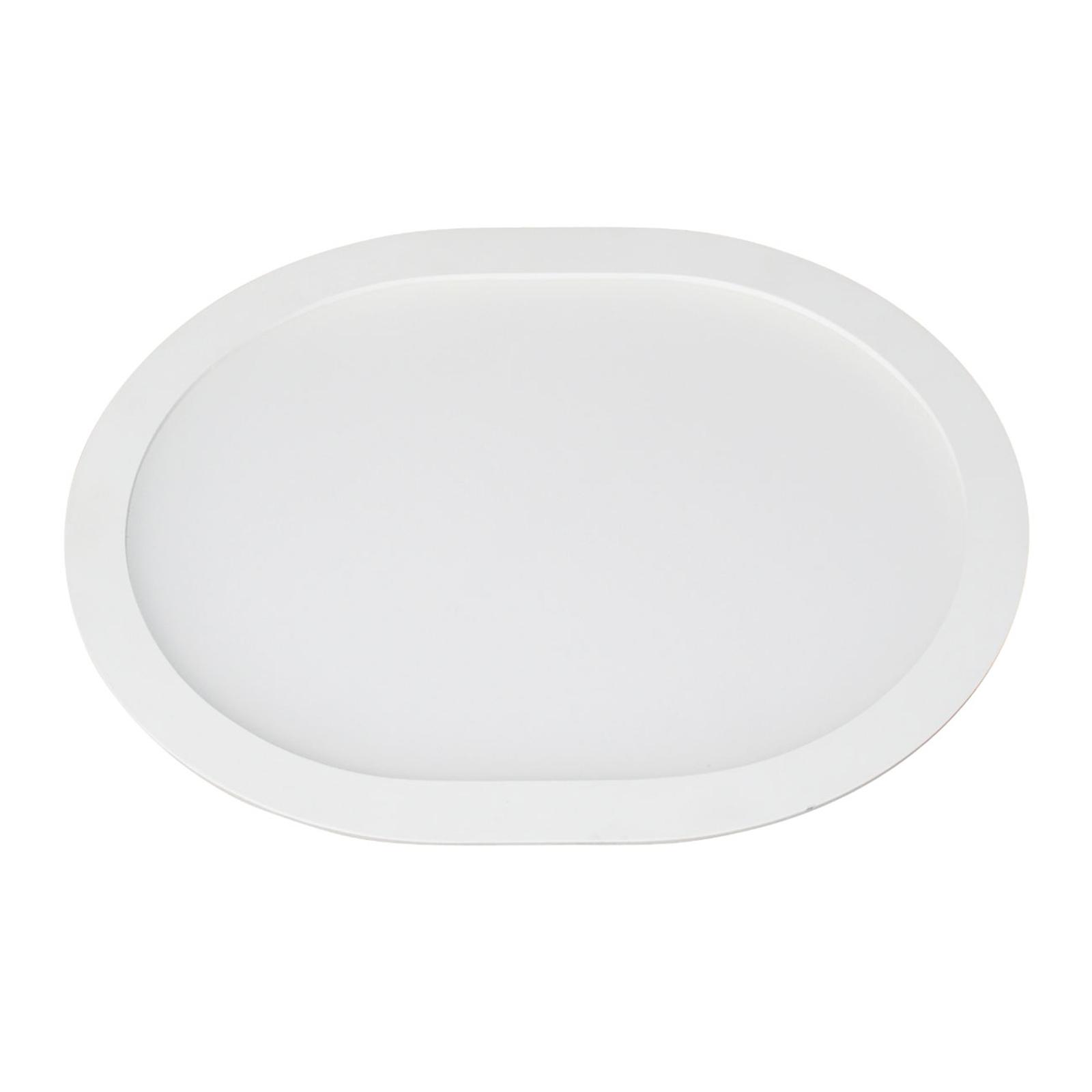 LED-uppopaneeli Ovale, 4 500 K, 26 cm x 21,6 cm