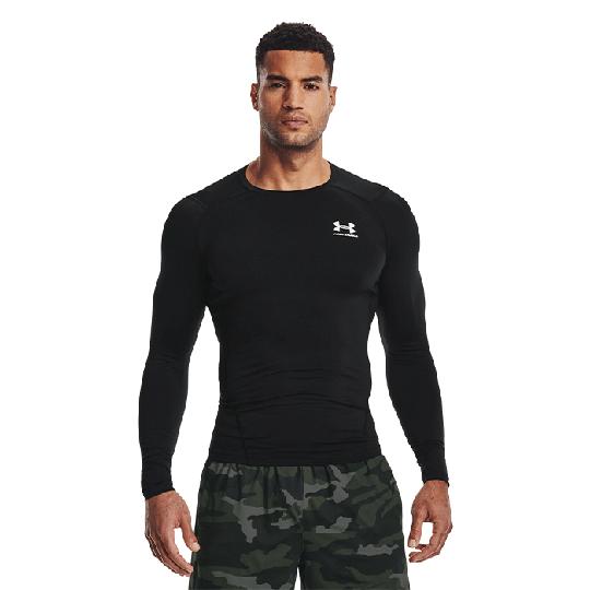 UA HG Armour Comp LS, Black