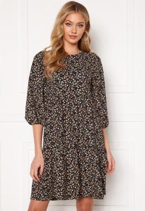 ONLY Zille Naya 3/4 Short Dress Black AOP REFRESH XS