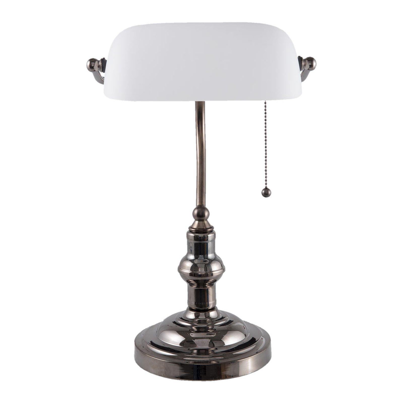 5100W skrivebordslampe med hvit glasskjerm