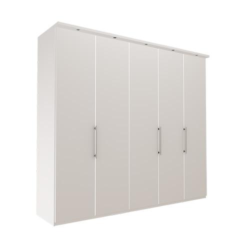 Garderobe Atlanta - Hvit 250 cm, 236 cm, Med gesims