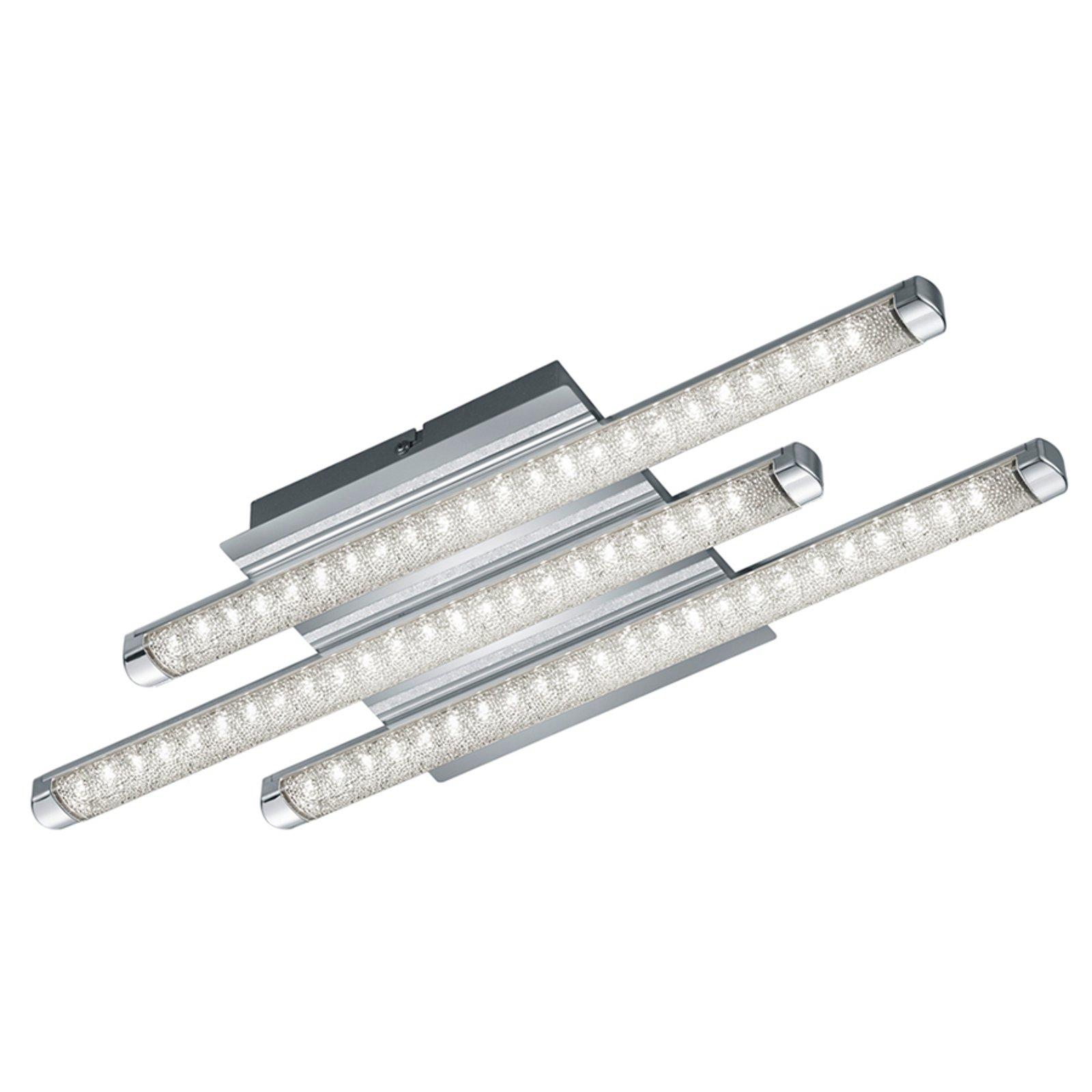 LED taklampen Street med 3 lys og krystalldesign