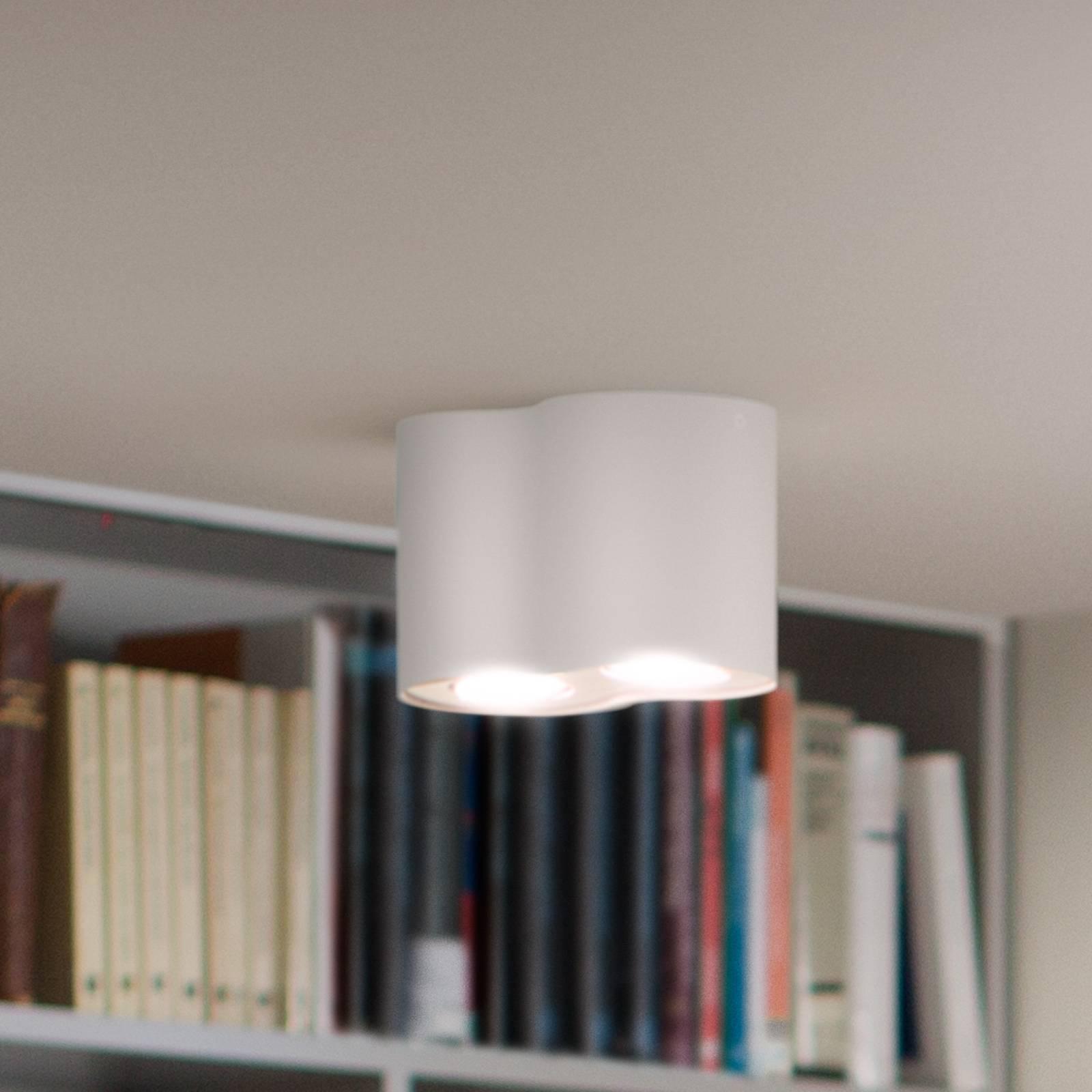 Philips Hue White Ambiance Pillar 2-lampp. valk.