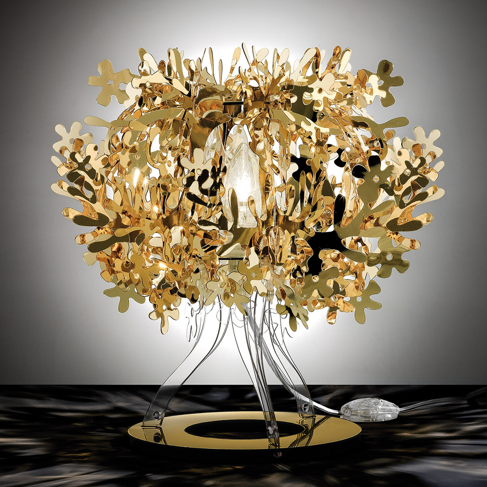 Fiorellina - kullanvärinen design-pöytävalaisin