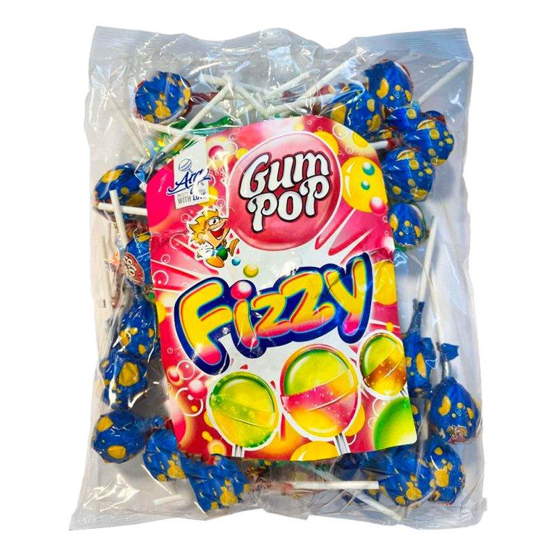 Gum Pop Fizzy Klubbor Sur Cola Storpack