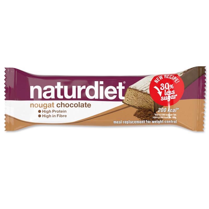 """Måltidsersättning Bar """"Nougat Chocolate"""" 58g - 38% rabatt"""