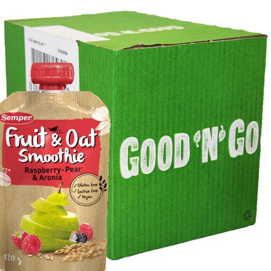 """Laatikollinen smoothieita: """"Rasberry & Pear"""" 12 x 120 g - 87% alennus"""