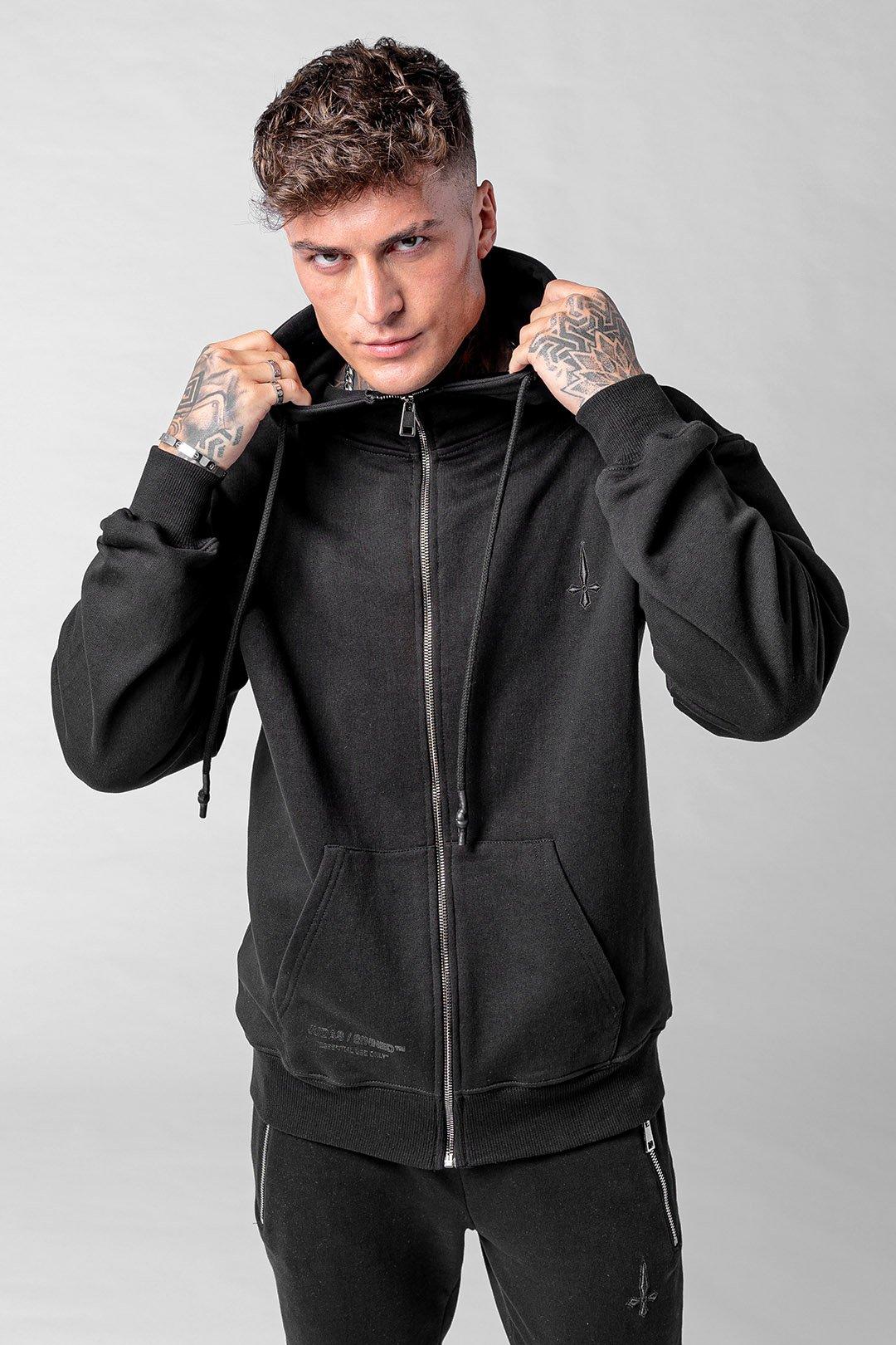 Culo Essential Zip Men's Hoodie - Black, Small