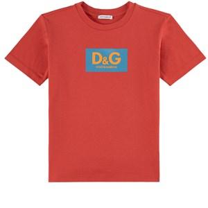 Dolce & Gabbana Logo T-shirt Röd 4 år