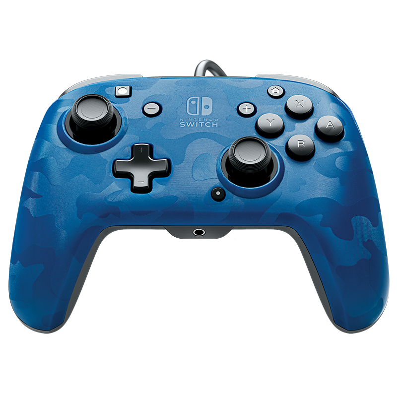 PDP Face-off Deluxe Switch Controller + Audio (Camo Blue)