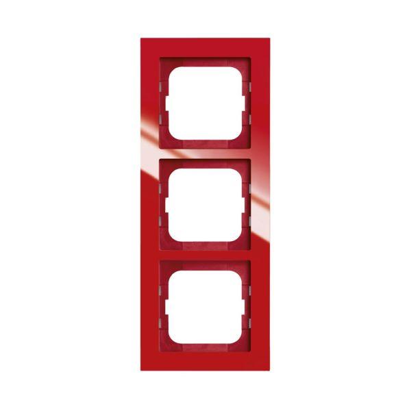 ABB Axcent Kombinasjonsramme rød 3 rom