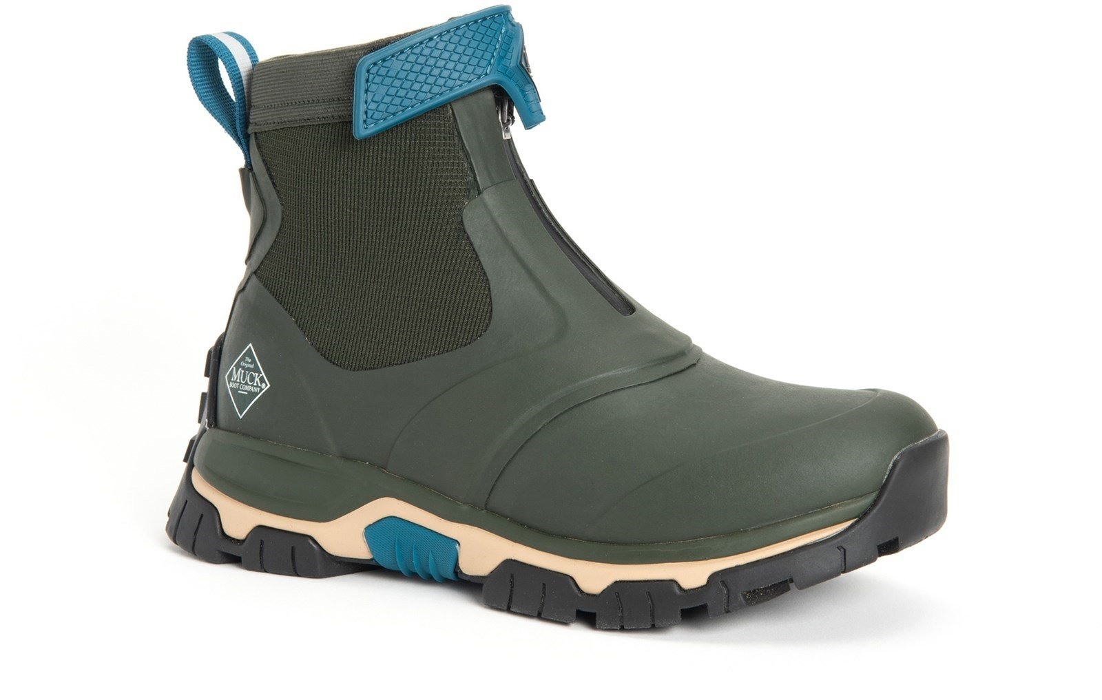 Muck Boots Unisex Apex Mid Zip Boot Various Colours 30982 - Moss/Tan 3