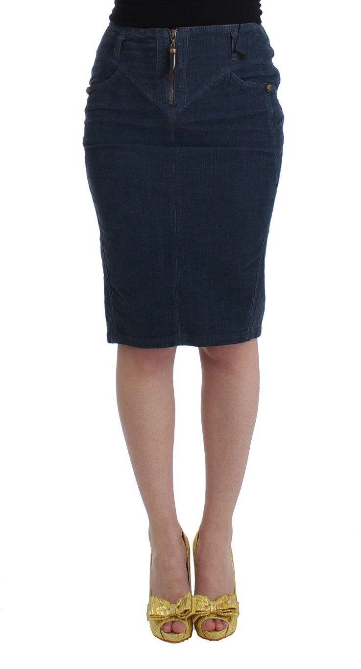 Cavalli Women's Skirt Blue SIG11824 - IT40 S