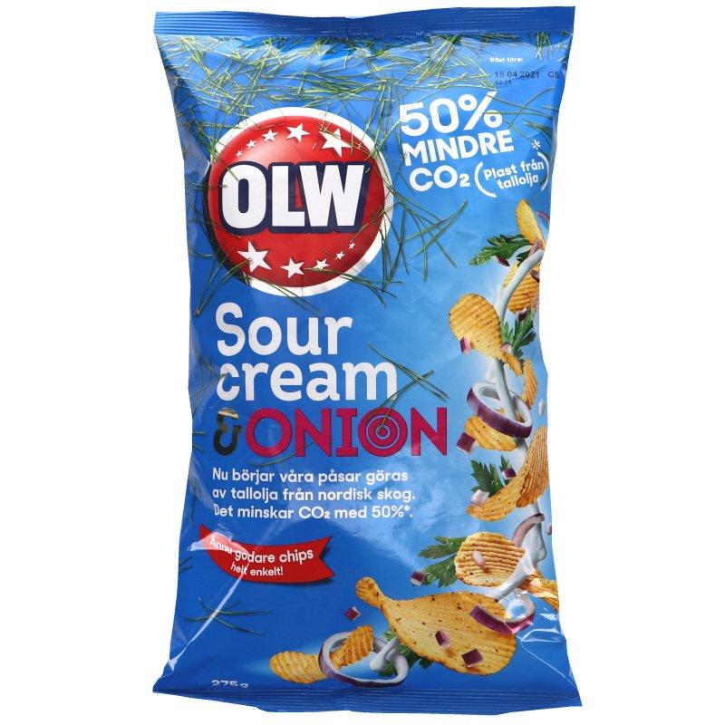 Sipsit Sourcream & Onion 275 g - 32% alennus