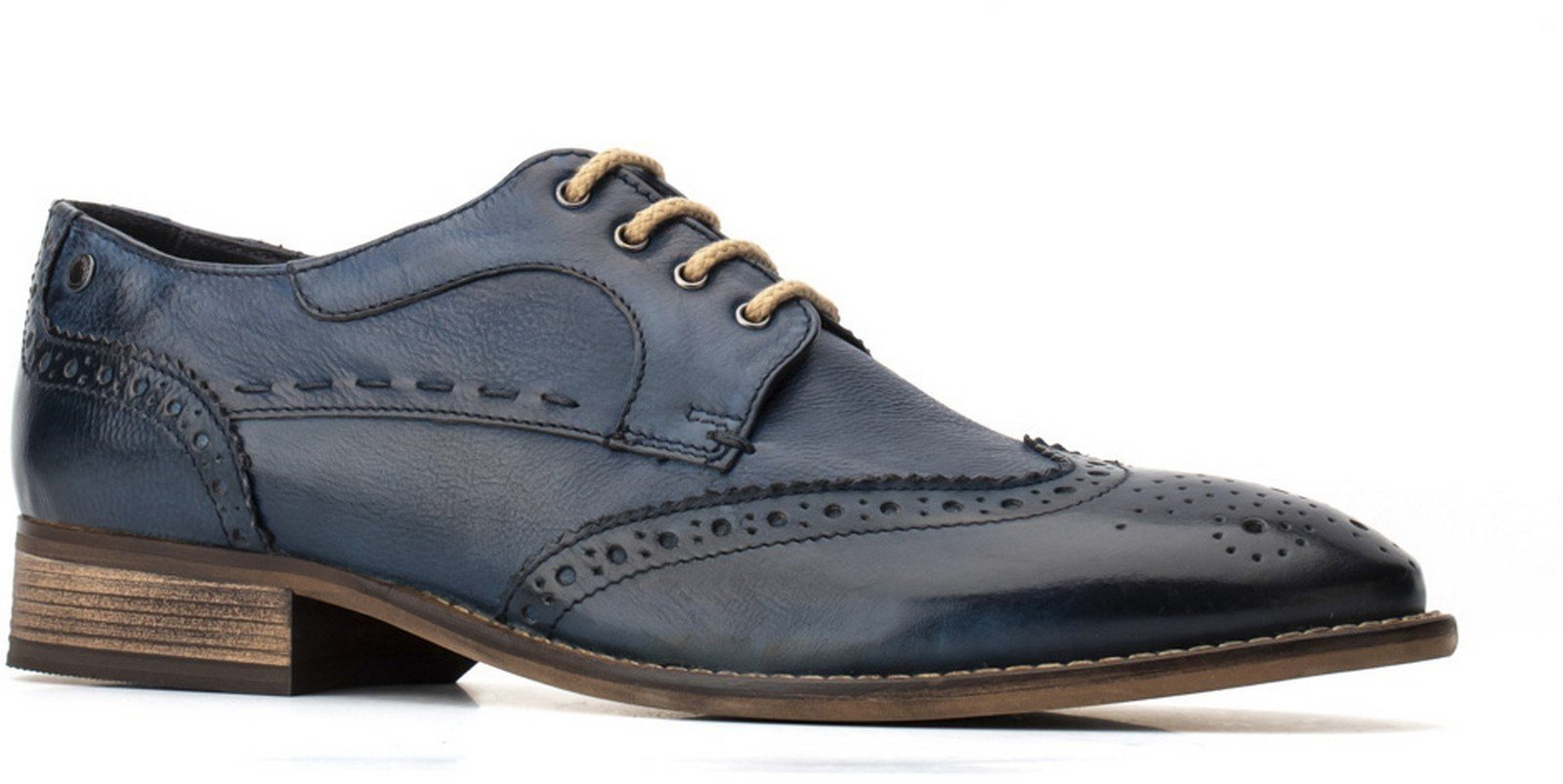 Base London Men's Kitchin Softy Lace Up Brogue Various Colours 30462 - Navy 11