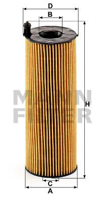 Öljynsuodatin MANN-FILTER HU 831 x