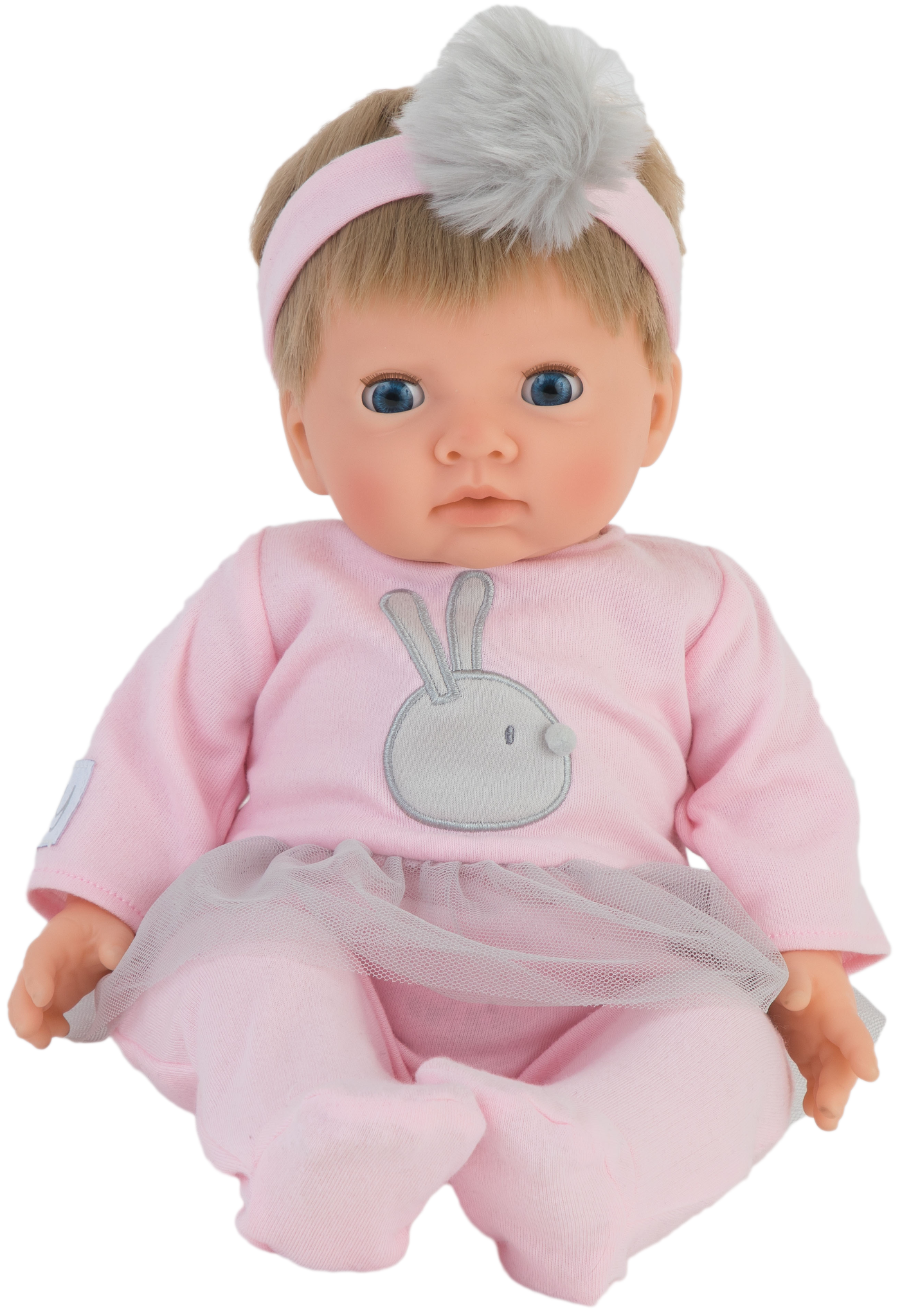 Tiny Treasure - Doll w/Blond Hair & Pink Pom-Pom Outfit (30138)