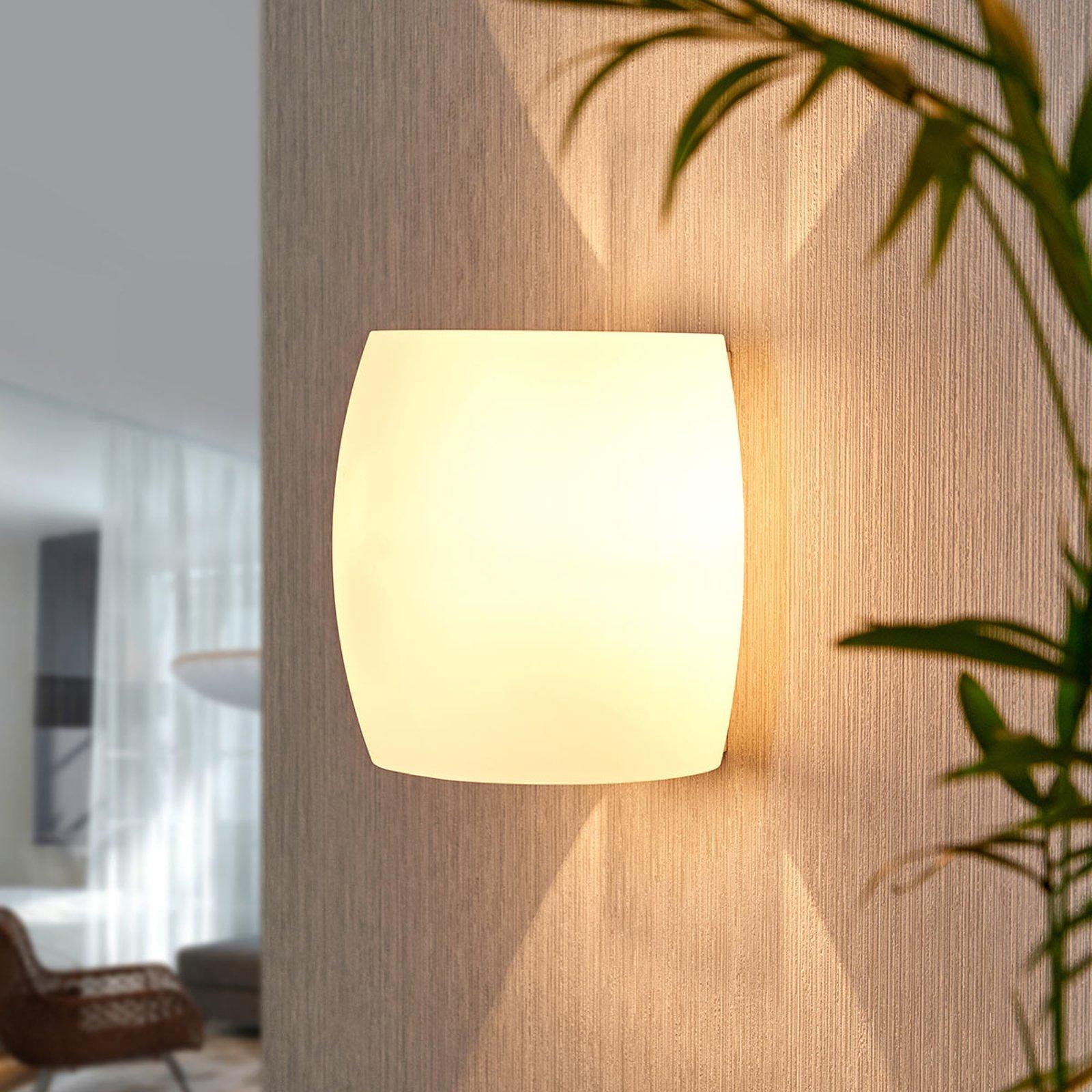 Vegglampe i glass Lusine