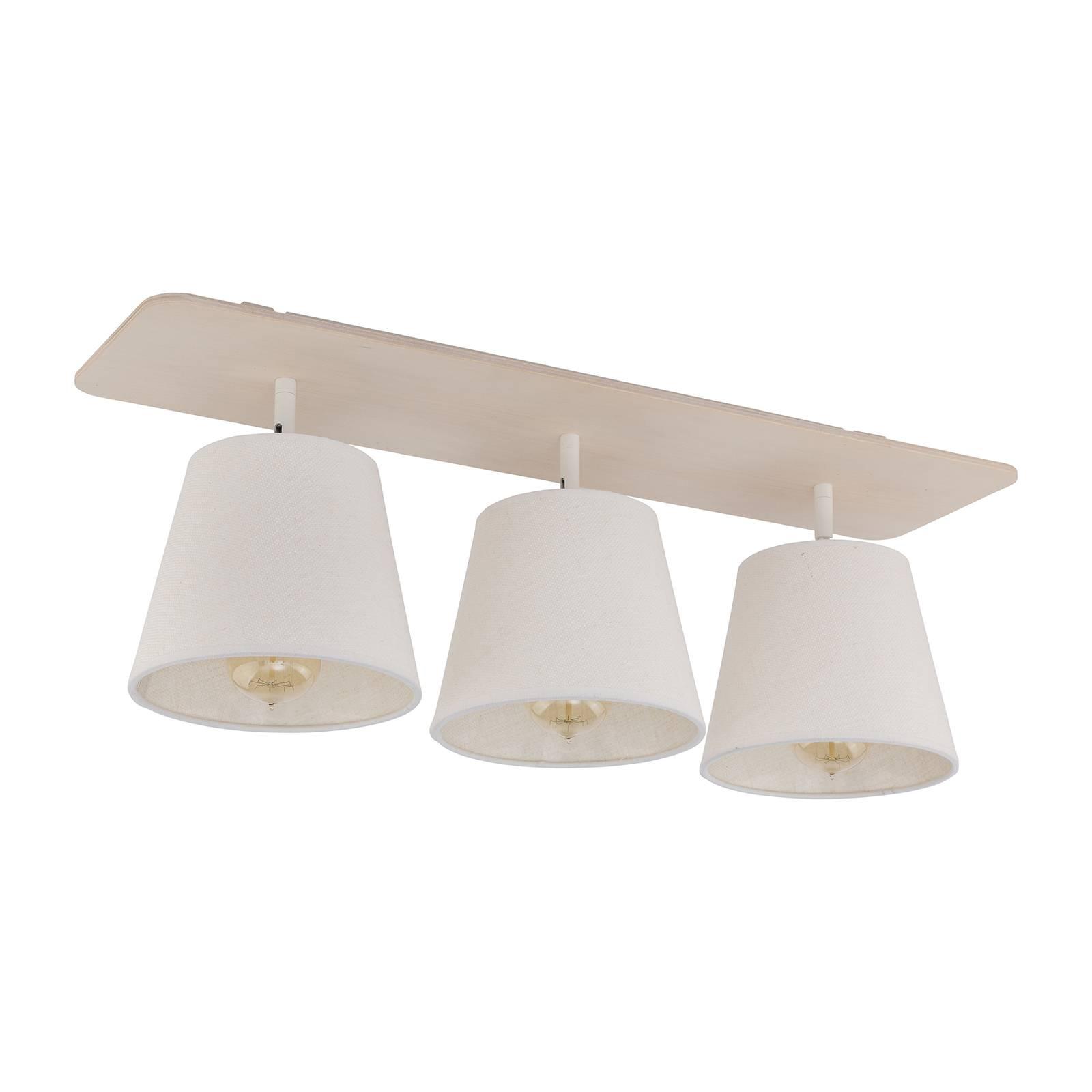 Kattovalaisin Awinion, 3-lamppuinen, valkoinen