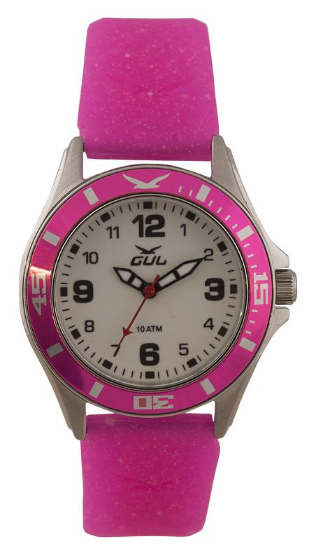 Barnklocka GUL Skate 32mm Glow Pink Silicone 532071021