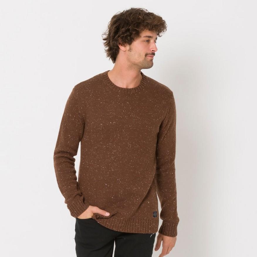 Animal Men's Smedmore Knitted Jumper Brown 5057652429432 - XL Brown