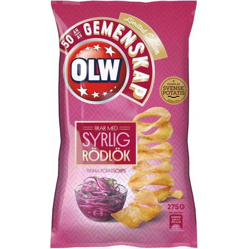 Chips Syrlig Rödlök - 32% rabatt