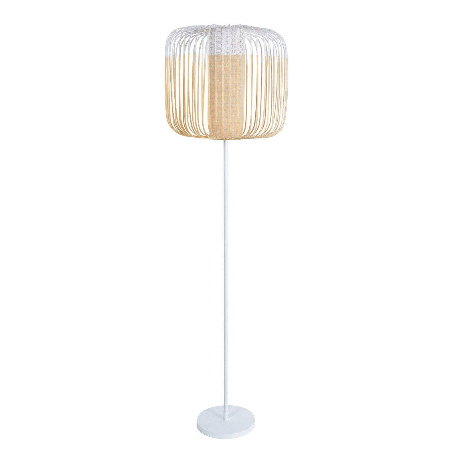 Forestier Bamboo Light gulvlampe, 1 lyskilde, hvit
