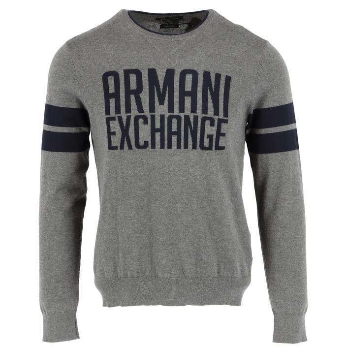 Armani Exchange Men's Sweater Grey 308708 - grey S