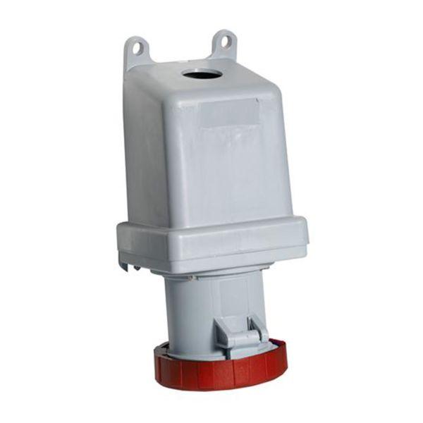 ABB 2CMA167328R1000 Seinäpistorasia IP67, 63 A, ulkoinen kiinnitys 5-napainen, Punainen
