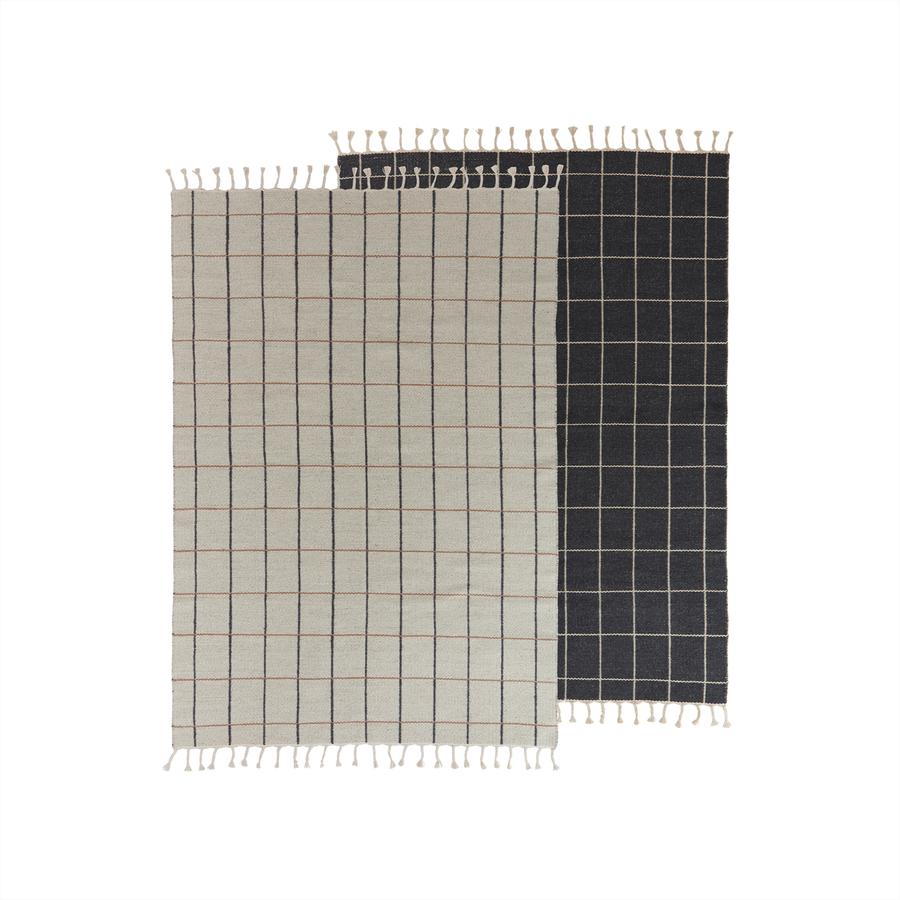 OYOY Living - Grid Rug - Offwhite / Anthracite